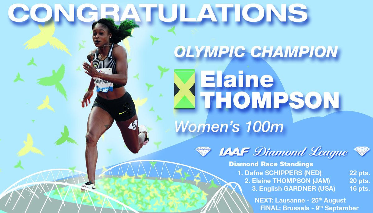 Elaine Thompson ties the knot