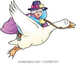 Mother Goose is a violent old bat