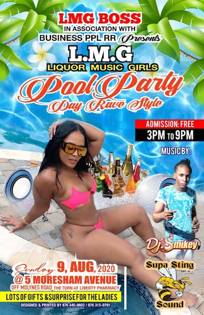 POOL PARTY DAY RAVE STYLE SET FOR AUGUST 9TH