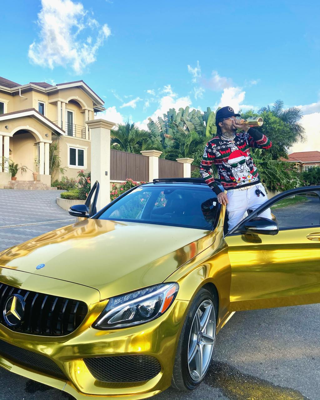 Gold Gad flexes with US$100,000 gold Benz